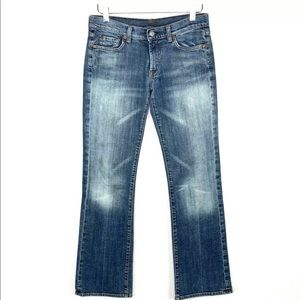 7 For All Mankind Blasted Bootcut Jean Size 28